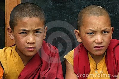 BOYS IN MONASTERY OF LADAKH Editorial Photo