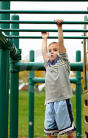 Boys on Monkey Bars
