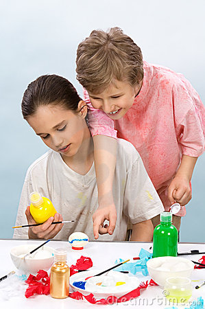 Free Boys Painting Stock Photo - 21612790