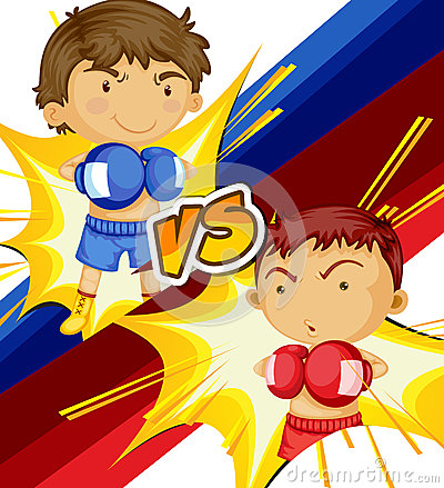 Boys playing boxing