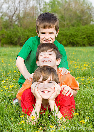 Free Boys Playing In A Field Stock Images - 5021104