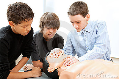 Boys Practicing CPR