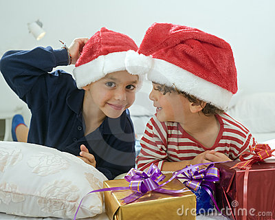 Boys and presents