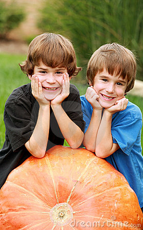 Boys on a Pumpkin