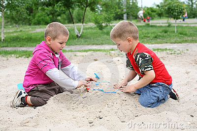 The boys in the sandbox