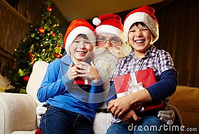 Boys and Santa