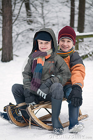 Boys On A Sled