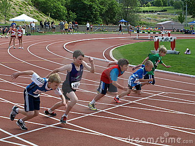 Boys on the start Editorial Stock Image