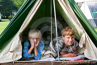 Boys in the tent