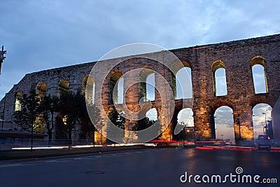 Bozdogan Aqueduct in Istanbul.