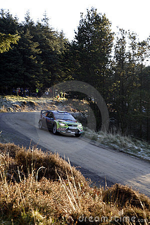 BP Ford Team at Wales Rally GB 2008 Editorial Image