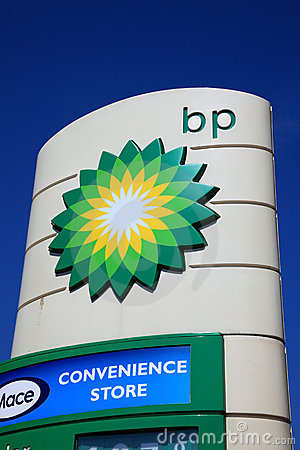 BP petrol station sign Editorial Stock Image