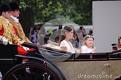 Bröllop 2011 för syster för catherine pippa kungligt s Redaktionell Fotografering för Bildbyråer