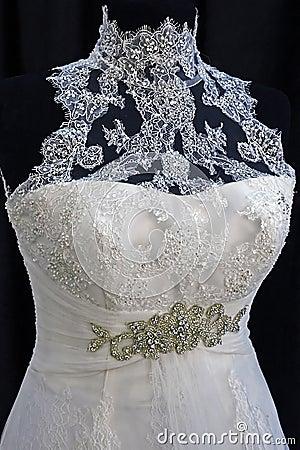 Bröllopsklänning. Detail-25