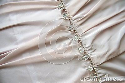 Bröllopsklänningdetalj