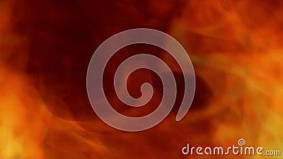 Brûlures du feu par les flammes de l'enfer par le portail banque de vidéos