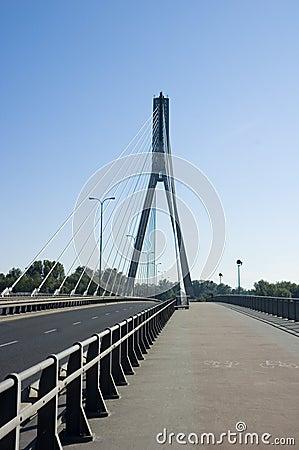 Brücke auf Wisla in Warschau