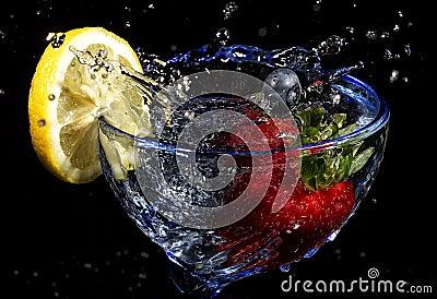 Bära fruktt färgstänk