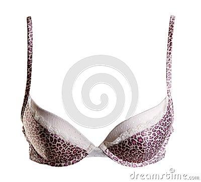 Bra with leopard pattern