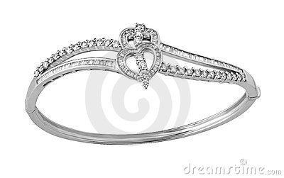 Bracelet With Diamonds Stock Photo - Image: 12410810