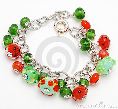 Bracelet handmade from Murano glass