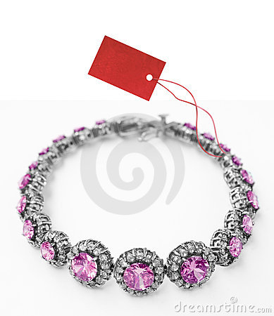 Bracelet with price tag