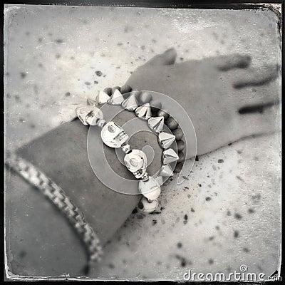 Bracelets on arm