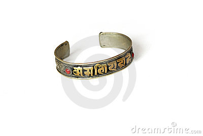 Braclet with a mantra