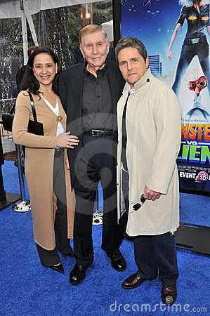 Brad Grey, Paula Fortunato, Sumner Redstone Editorial Stock Photo