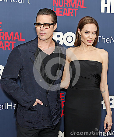 Free Brad Pitt And Angelina Jolie Stock Images - 40681524