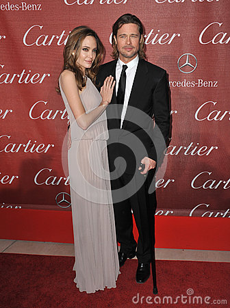 Brad Pitt,Angelina Jolie Editorial Photo