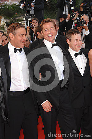 Brad Pitt,George Clooney Editorial Image