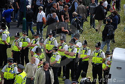 Bradford EDL protest 28/08/10 Editorial Photography