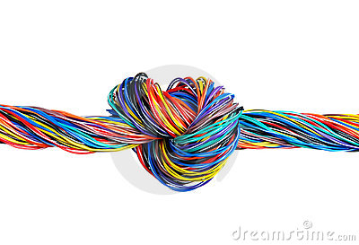 The braided color computer cable