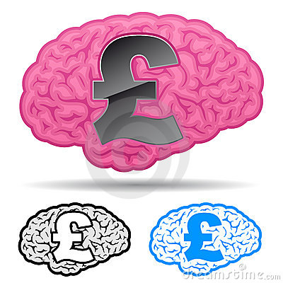 Brain with british pound symbol