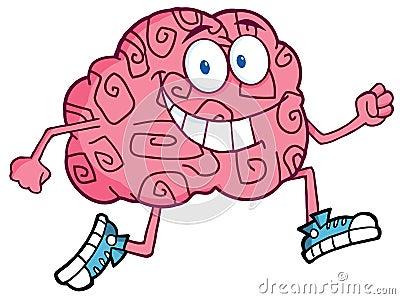 Brain Character Jogging