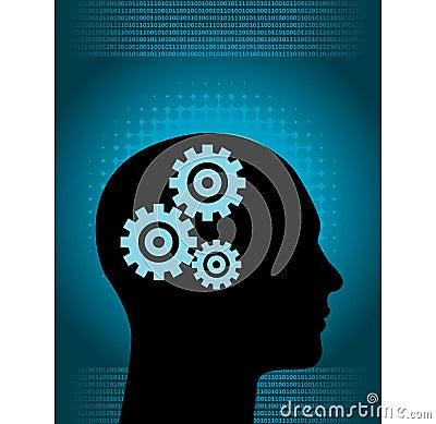 Free Brain Clockwork Royalty Free Stock Images - 6279419