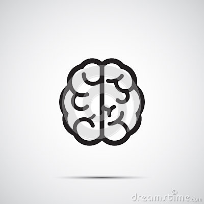 Vector brain icon Vector Illustration