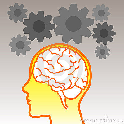 Brain icon with gears