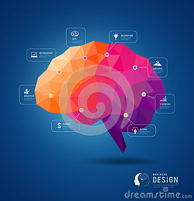 Free Brain Idea Geometric Info Graphics Design Stock Photography - 39870202