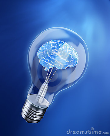 Free Brain In A Bulb Royalty Free Stock Images - 19381569