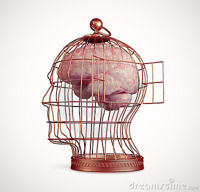 Free Brain Inside A Cage Royalty Free Stock Photo - 24076785