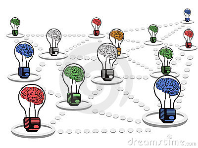 Brain light bulb net work