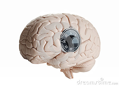 Brain Lock Stock Image Image 35761011