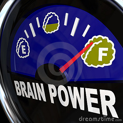 Free Brain Power Gauge Measures Creativity Intelligence Royalty Free Stock Photos - 20931418