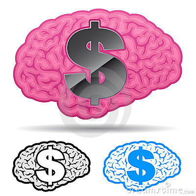 Brain with us dollar symbol