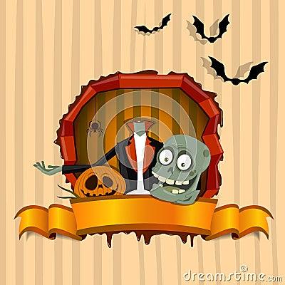 Brainless zombie. Halloween theme