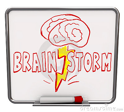 Free Brainstorm - Dry Erase Board With Red Marker Royalty Free Stock Images - 12046189