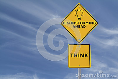 Brainstorming Road Sign