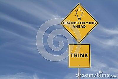 Brainstorming Road Sign